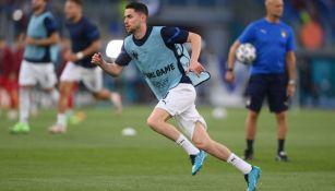 Jorginho con la selección de Italia previo a juego
