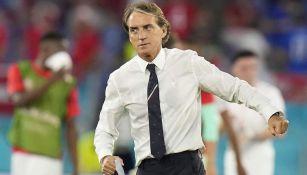 Roberto Mancini dirigiendo