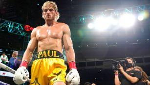 Logan Paul en la pelea ante Mayweather