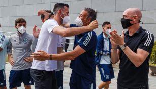 Luis Enrique le dio la bienvenida a Sergio Busquets