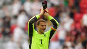 Manuel Neuer capitán y arquero de Alemania durante la Eurocopa