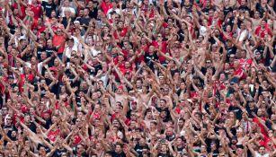 Afición de Hungría durante juego contra Francia en la Eurocopa