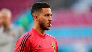 Eden Hazard en entrenamiento con Bélgica