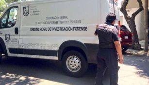 Servicio del forense acude al llamado tras accidente