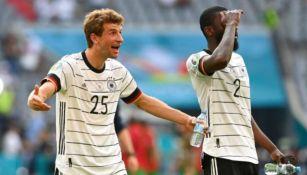 Thomas Muller en acción con Alemania