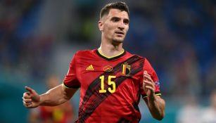 Thomas Meunier en un partido de la Selección de Bélgica