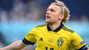 Suecia en celebración de gol