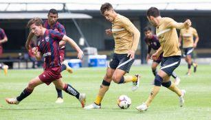Vigón participó en el juego de Pumas