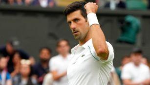 El serbio Novak Djokovic en acción