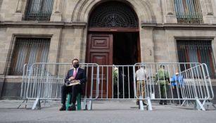 Silvano Aureoles en Palacio Nacional