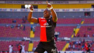 Renato Ibarra tras anotar gol ante Tijuana