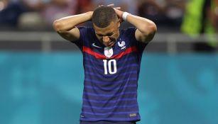 Mbappé en un partido de la Euro