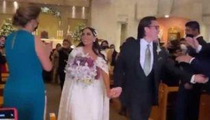 Rosique y Michelle en boda
