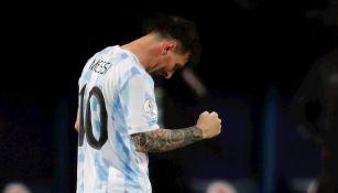Lionel Messi en victoria vs Ecuador