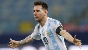 Messi, en festejo de gol