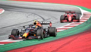 Checo Pérez y Charles Leclerc en el Gran Premio de Austria