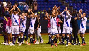 Jugadores del Puebla tras un partido