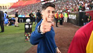Brandon Moreno en partido de México vs Nigeria