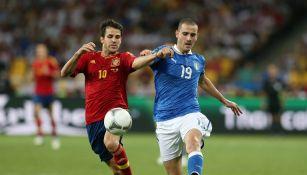 Cesc Fabregas durante un partido ante Italia
