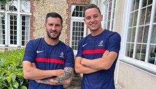 Gignac y Thauvin con la Selección de Francia