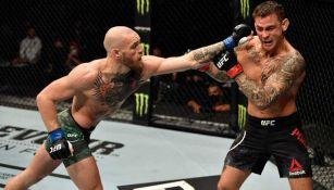 McGregor en pelea con Dustin Poirier