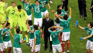El Potro Gutiérrez en los festejos del título de 2011