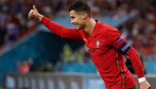 Cristiano Ronaldo en festejo con Portugal