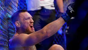 Conor McGregor en derrota ante Dustin Poirier
