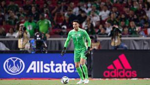 Alfredo Talavera durante un partido con el Tri