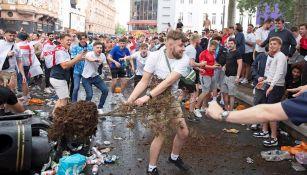 Disturbios en las afueras de Wembley