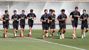 Real Madrid en entrenamiento