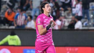 Toño Rodríguez en un partido con Chivas