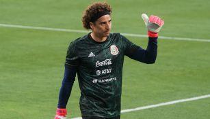 Memo Ochoa durante un entrenamiento con el Tri Olímpico