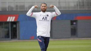 Sergio Ramos en entrenamiento