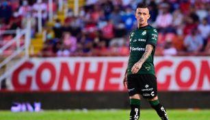 Brian Lozano en su regreso con Santos