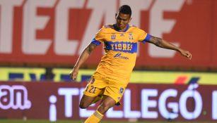 Francisco Meza durante un partido con Tigres