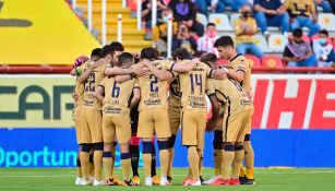 Jugadores de Pumas previo a un partido