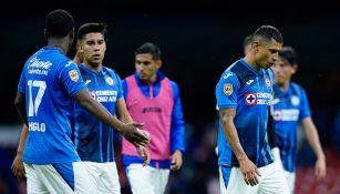 Jugadores de La Máquina tras derrota ante Mazatlán FC