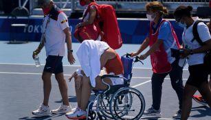 Tokio 2020: Paula Badosa se retiró en los Cuartos de Final del torneo de Tenis por el calor
