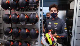 Sergio 'Checo' Pérez en la práctica del GP de Hungría