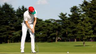 Carlos Ortiz en la penúltima ronda de golf