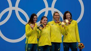 Australia se llevó el oro en los relevos de 4x100 combinados