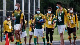 Atletas en la Villa Olímpica