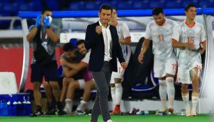 Jaime Lozano en el duelo entre México y Corea del Sur