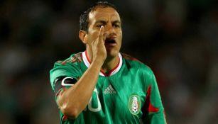Cuauhtémoc Blanco con la Selección Mexicana