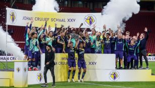 Jugadores del PSV festejando el título de la Supercopa de Países Bajos