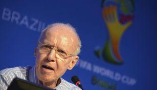 Mário Zagallo durante conferencia de prensa