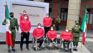 Juegos Paralímpicos 2020: Presidente abanderó a la delegación mexicana