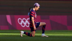 Megan Rapinoe durante un partido con Estados Unidos