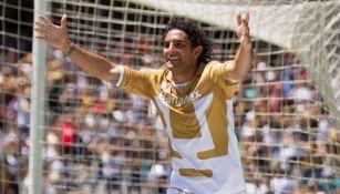 Martín Bravo tras anotar gol a favor de los Pumas